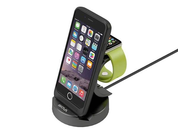 EnergySkin iPhone 6 Wireless Charging Station with Apple Watch Stand