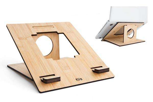 Handmade Portable Laptop Stand Made from Bamboo