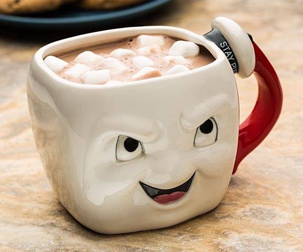 Ghostbusters Stay Puft Marshmallow Face Coffee Mug Gadgetsin