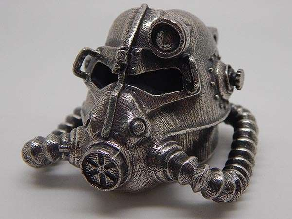 Fallout Brotherhood Of Steel Helmet Handmade Necklace