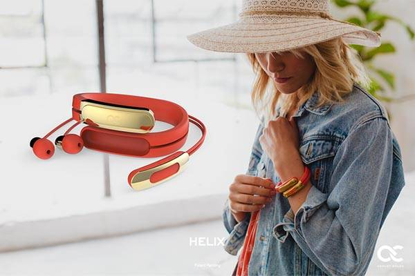 Helix Stylish Wearable Cuff with Stereo Bluetooth Headphones