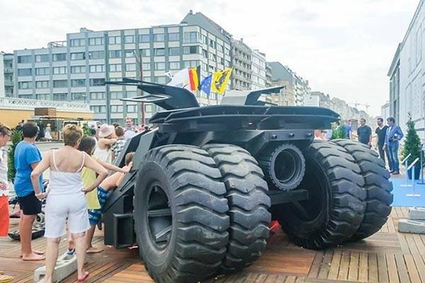 A Life-Size Batmobile Tumbler