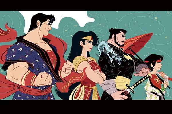 the superhero mashups inspired by samurai warriors