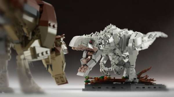 The Indominus Rex in Jurassic World Built with LEGO Bricks Instead of Genetic Modification