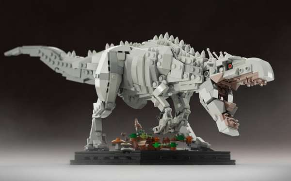 The Indominus Rex In Jurassic World Built With Lego Bricks