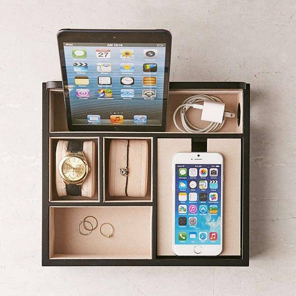 Mele Co Rory Charging Station Doubles As Desk Organizer