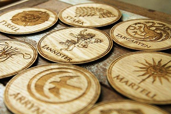 The Game of Thrones Coaster Set - one of our handmade tech gifts