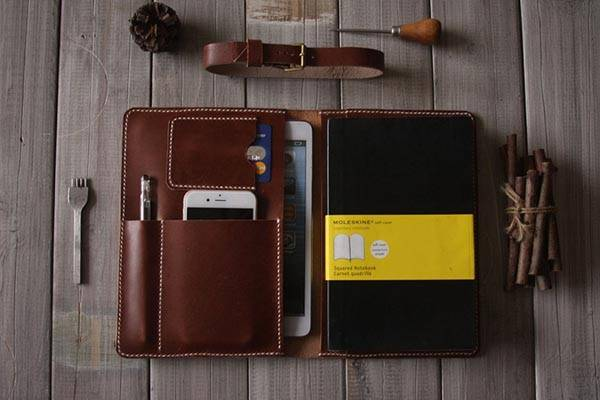 The Handmade Leather iPad Mini Case - one of our handmade tech gifts
