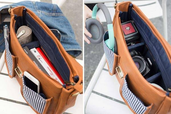 Fashionable Nautical Leather Camera Bag