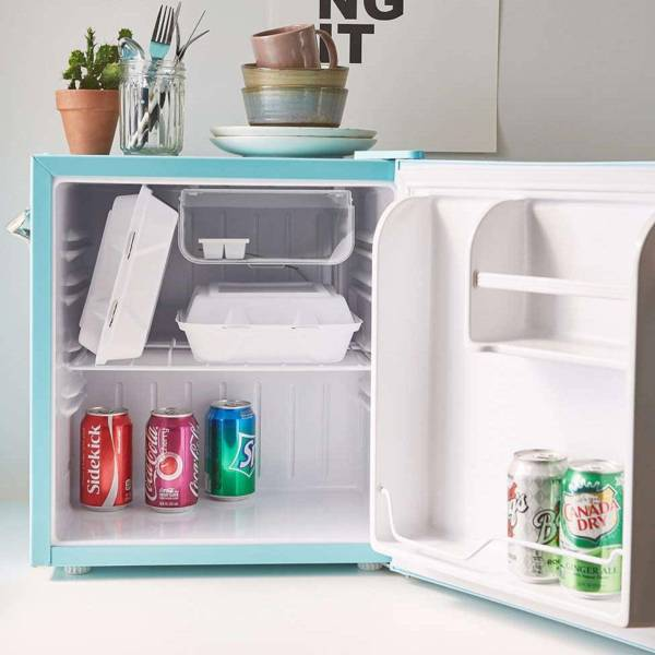 The Retro Mini Fridge with Built-in Bottle Opener