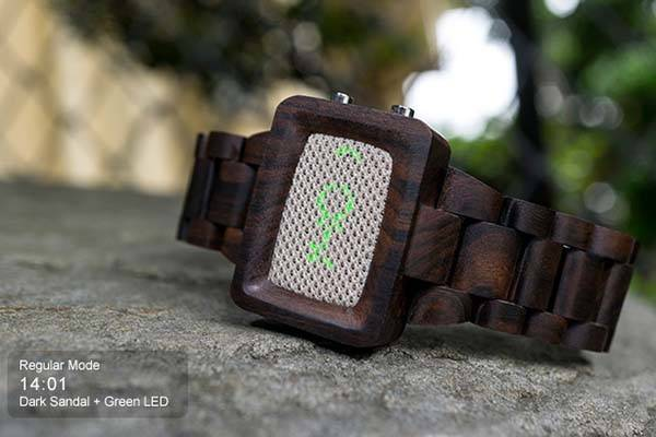 Tokyoflash Kisai Wood Link Bluetooth Watches