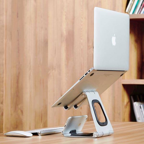 What Is Aluminum Made Of >> Apex Portable Laptop Stand with Integrated iPhone Stand | Gadgetsin