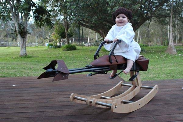 Rocking 74-Z Speeder Bike for Your Little Prince and Princess