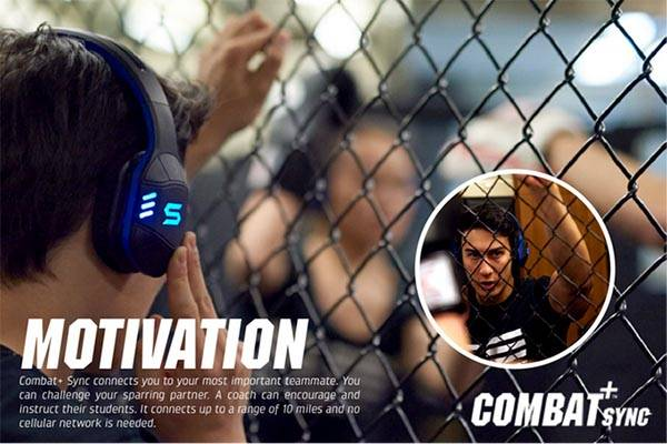 Combat+ Sync Wireless Sports Headphones Doubles as Walkie Talkie