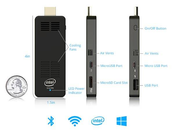 Computerstick mini pc runs windows 10 os gadgetsin for Windows 10 pc