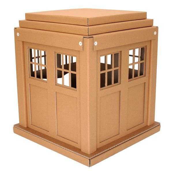 Doctor Who TARDIS Cardboard Cat House