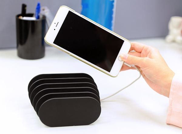 Fishbone Charging Station with 5 USB Ports and Cable Organizer