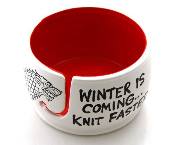 Game of Thrones Winter is Coming Knit Faster Yarn Bowl