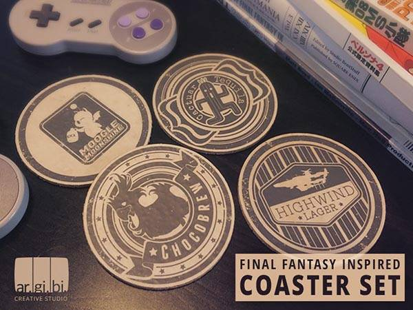 Handmade Final Fantasy Inspired Coaster Set
