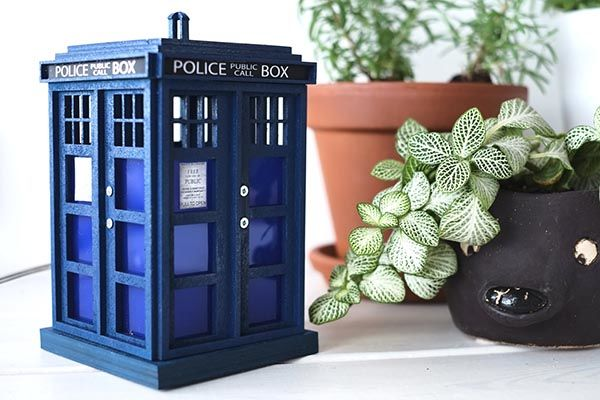Handmade Highly Detailed Doctor Who TARDIS Night Light - one of our handmade tech gifts