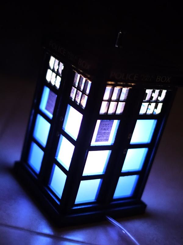 Handmade Doctor Who Tardis Night Light Gadgetsin