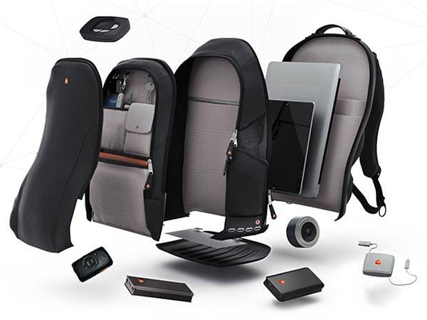 iBackPack Backpack with Power Bank, Bluetooth Speaker and GPS Tracking System