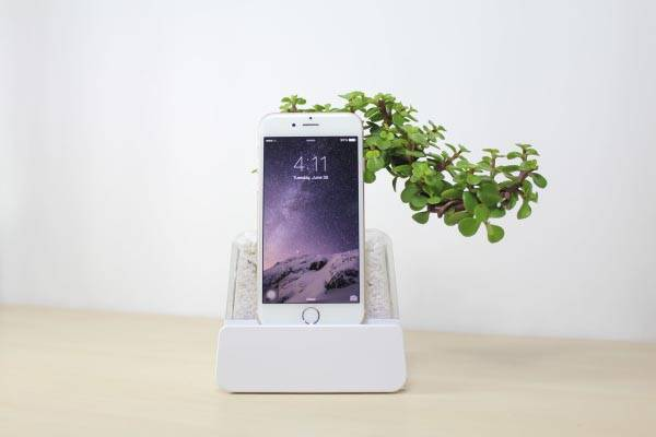 LifeDock Charging Station Features Removable Planter