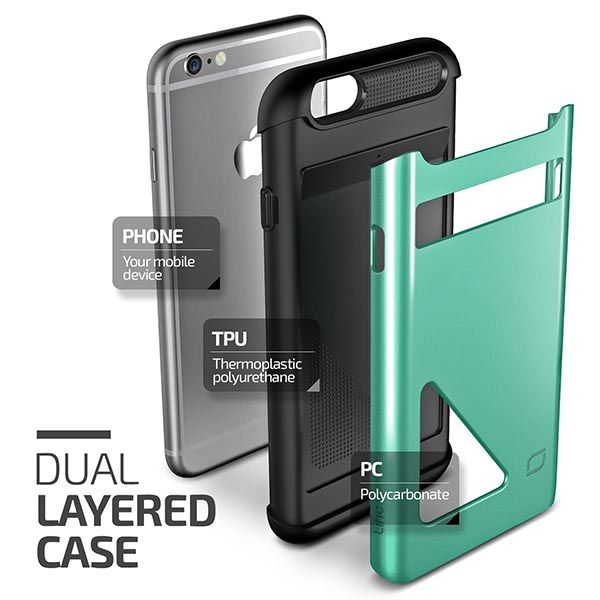Mighty Card Defense iPhone 6 and iPhone 6 Plus Cases with Easy Access Card Slot