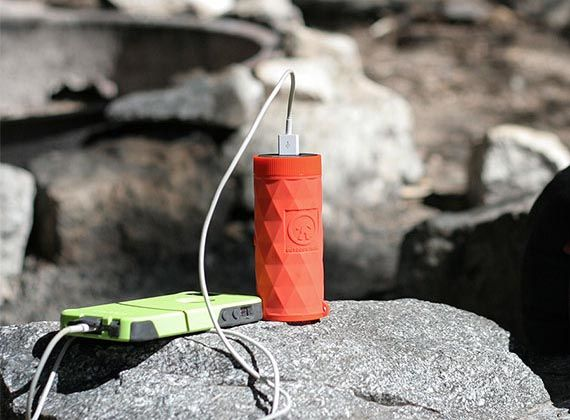Buckshot Pro Portable Bluetooth Speaker with LED Flashlight and Power Bank