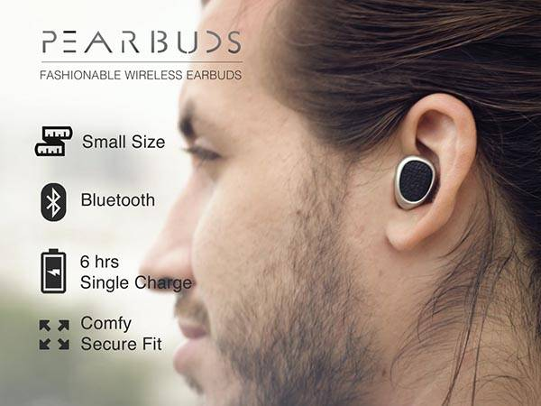Pearbuds Ultra Compact Stereo Bluetooth Earbuds