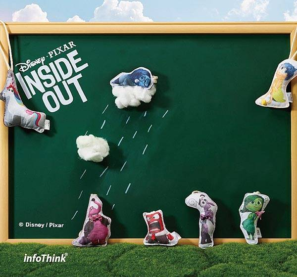 Pixar Inside Out USB Flash Drives Made of Cotton