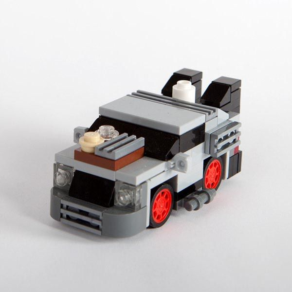 The Back to the Future Minimal LEGO DeLorean and Doc Brown's Van