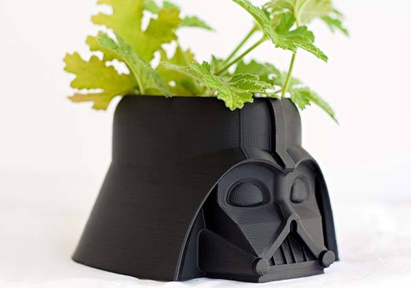 3D Printed Star Wars Darth Vader Flower Pot