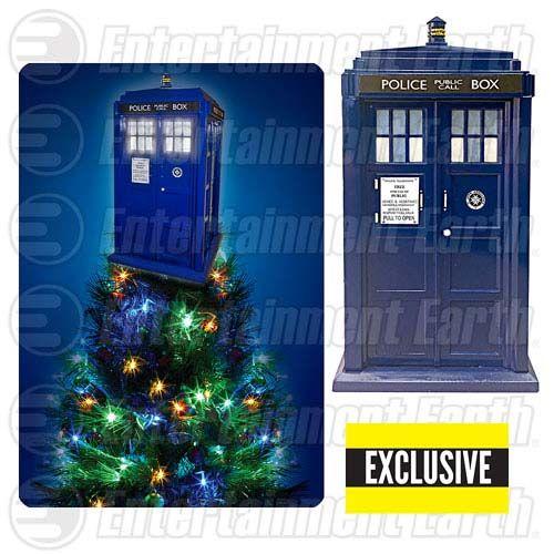 Doctor Who TARDIS Light-Up Holiday Christmas Tree Topper