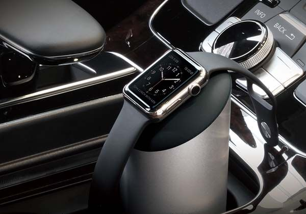 Elago W Apple Watch Charging Stand Works with Car's Cup Holder
