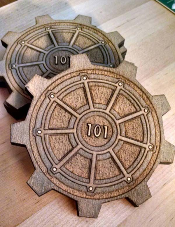 Fallout 3 Vault Door Drink Coasters