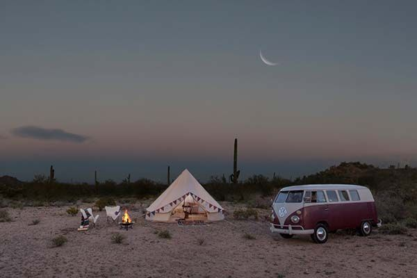 Handmade Sand Colored Vintage Bell Camping Tent