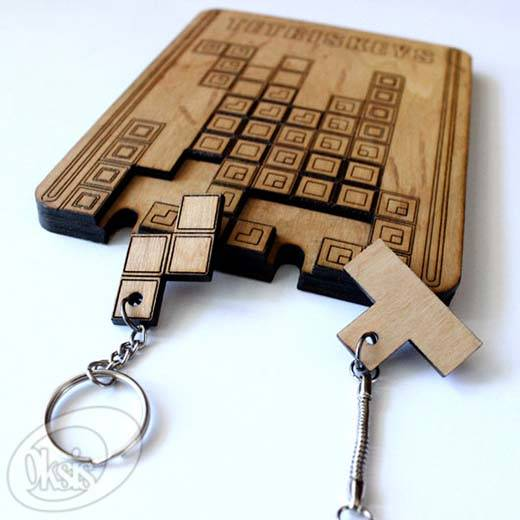 Handmade Tetris Wall Key Holder