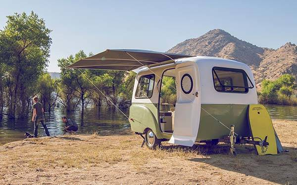 Happy Camper Hc1 Travel Trailer Boasts Retro Exterior And