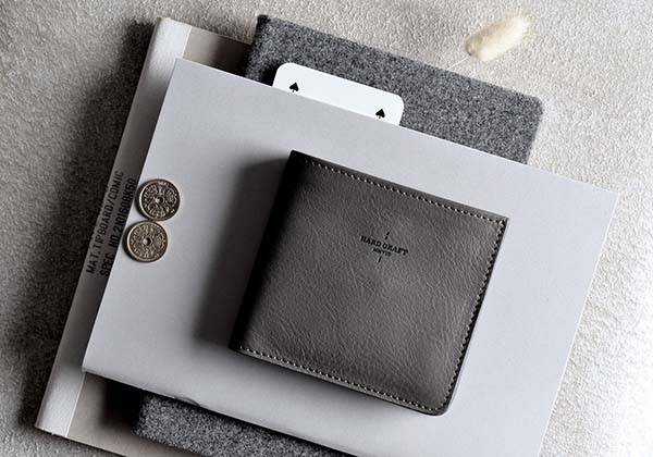 Hard Graft Neutral Zip Leather Wallet