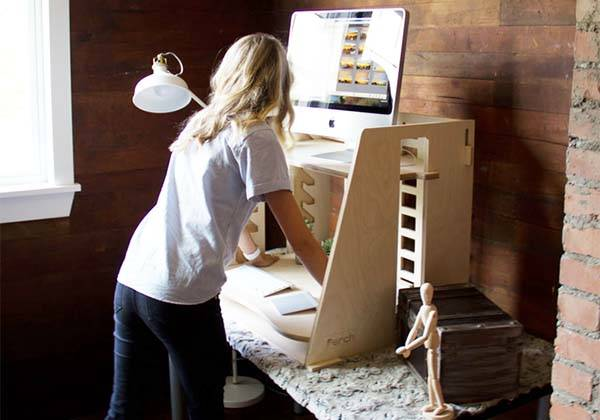 Perch Wooden Sit-to-stand Desk