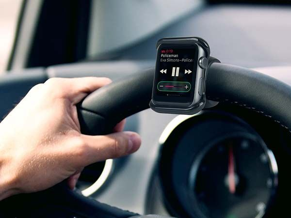 Satechi Apple Watch Mount Fits on Steering Wheel, Bicycle Handlebar and More