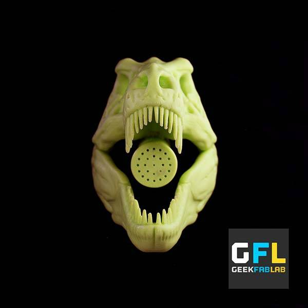The 3D Printed T-Rex Shower Head Delivers the Style of Jurassic World