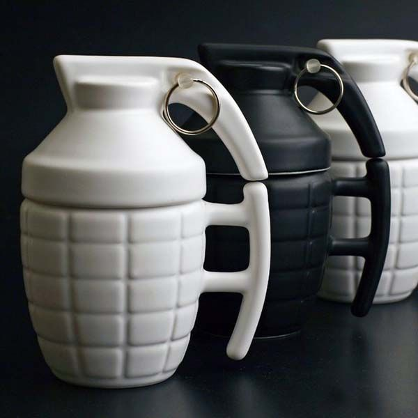 The Grenade Coffee Mug Perks You Up With Your Favorite Beverage