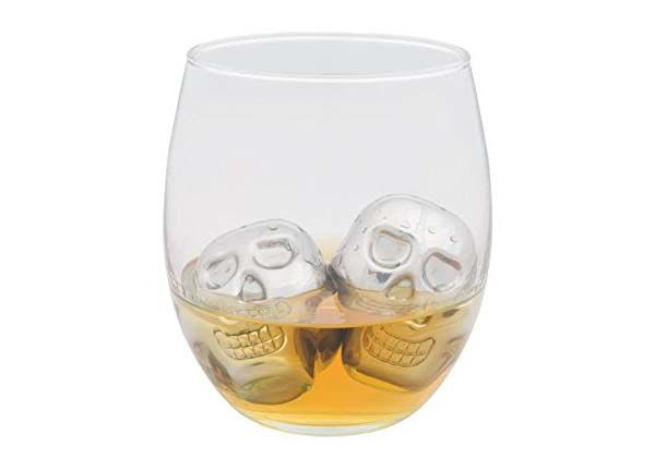 Skull Head Stainless Steel Ice Cube Set
