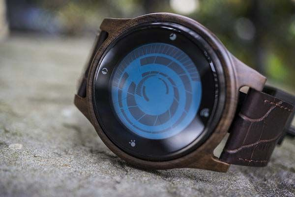 Tokoflash Kisai Vortex Wood LCD Watch