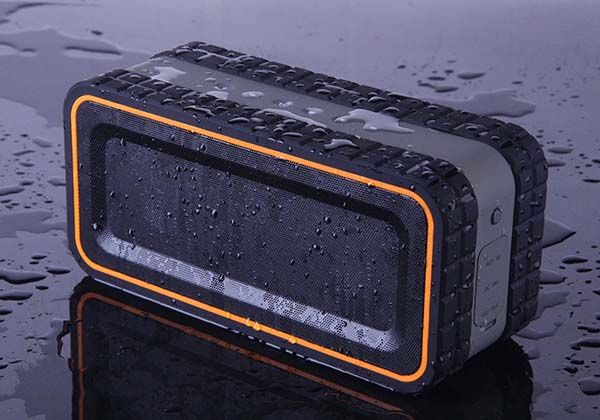 Turcom Acousto Shock Water Resistant Portable Bluetooth Speaker