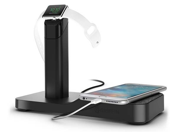Griffin WatchStand Powered Charging Station for Apple Watch and iPhone