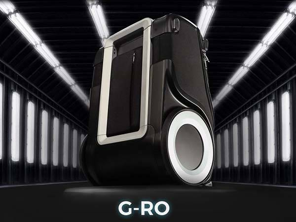 G-RO Carry-on Luggage with Two Big Wheels, Charging Station and Location Tracker