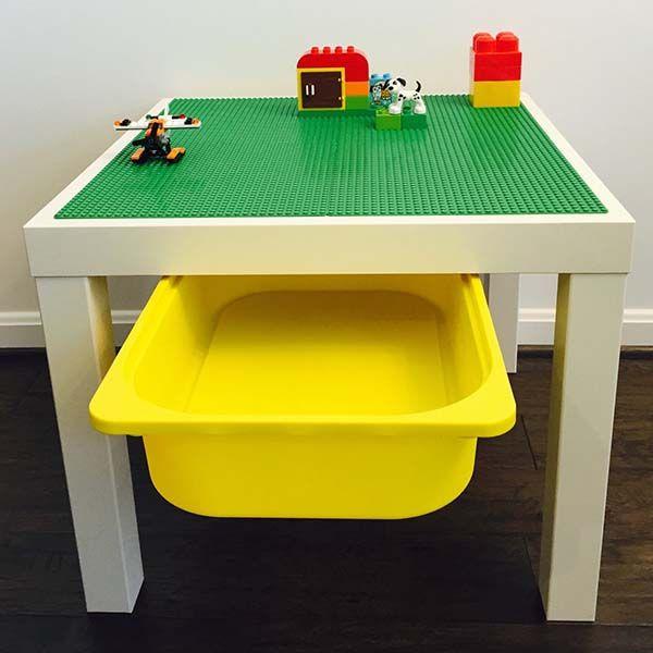 Handmade LEGO Table With Storage Bin